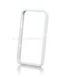 Бампер для iPhone 4 Bumper Clever Case, цвет белый