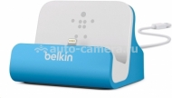 Док-станция для iPhone 5 / 5S Belkin Charge + Sync Dock, цвет blue (F8J045btBLU)