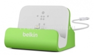 Док-станция для iPhone 5 / 5S Belkin Charge + Sync Dock, цвет green (F8J045btGRN)