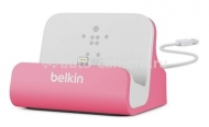 Док-станция для iPhone 5 / 5S Belkin Charge + Sync Dock, цвет pink (F8J045btPNK)
