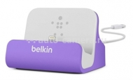 Док-станция для iPhone 5 / 5S Belkin Charge + Sync Dock, цвет purple (F8J045btPUR)